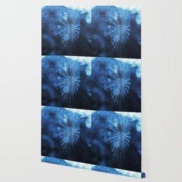 Spider Web in Blue Wallpaper