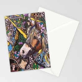 With Flowers in Her Hair Stationery Cards