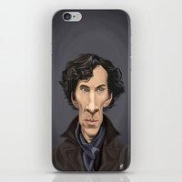 cumberbatch iPhone & iPod Skins featuring Celebrity Sunday ~ Benedict Cumberbatch by rob art | illustration