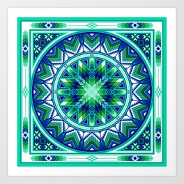 Sacred Places Green Art Print