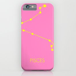 PISCES (YELLOW-PINK STAR SIGN) iPhone Case