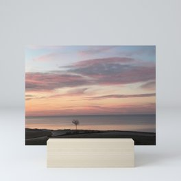 """""""Small Tree on Lake Erie"""" Photography by Willowcatdesigns Mini Art Print"""
