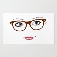 Hipster Eyes 1 Rug