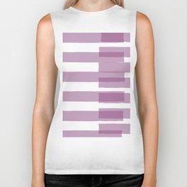 Big Stripes in Purple Biker Tank