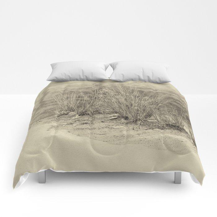 Beautiful river grasses in sepia Comforters