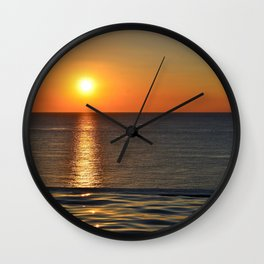 Super Sunset at the Beach Wall Clock