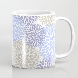Periwinkle Floral Bouquet Coffee Mug