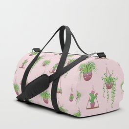 Mother, Macramé I? - Hanging Plants on Pink Duffle Bag