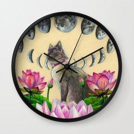 Moonphase Panda Wall Clock