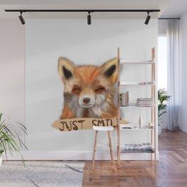 Happy Fox Wall Mural