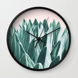 Agave Chic #10 #succulent #decor #art #society6 Wall Clock