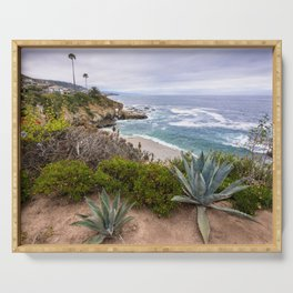 View from cliffs in Laguna Beach, CA Serving Tray