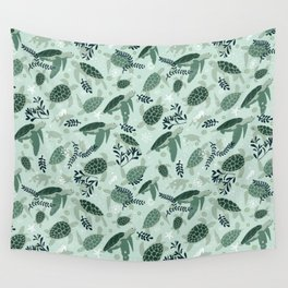 Endangered turtles Wall Tapestry