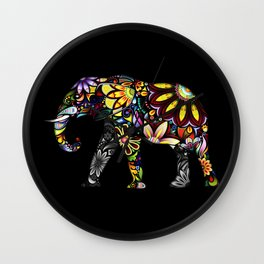 Aztec Elephant Wall Clock