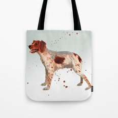Brittany Spaniel, dog painting, Spaniel watercolor Tote Bag