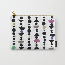 All the Shapes, Jewel Tone Pattern Carry-All Pouch