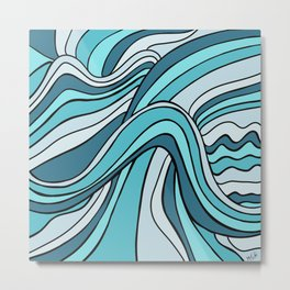Ocean Waves Of Chaos Metal Print