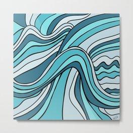 Ocean Waves Of Chaos Metal Print