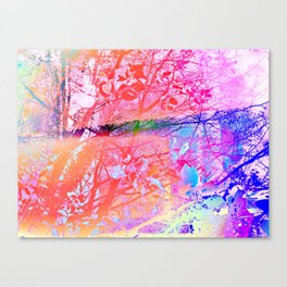 Under the trees colorful Canvas Print