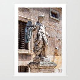 Angel statue inside Castle Sant'Angelo in Rome Art Print