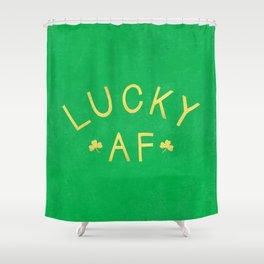 Lucky AF Shower Curtain