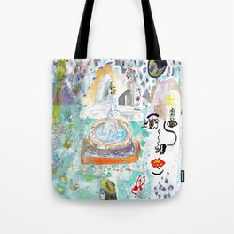Garden of the Sacred Rose Tote Bag