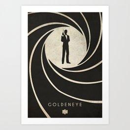 GoldenEye - Nintendo 64 Minimalist Art Print