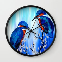 Kingishers Wall Clock