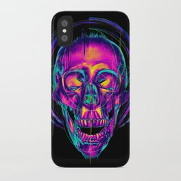 Trippy Skull iPhone Case