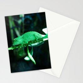 Dwarf Chameleon in Green Stationery Cards