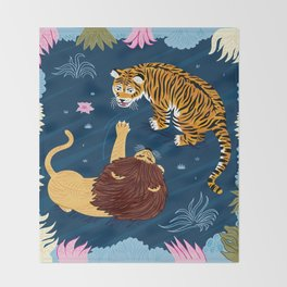 Rumble In The Jungle Throw Blanket