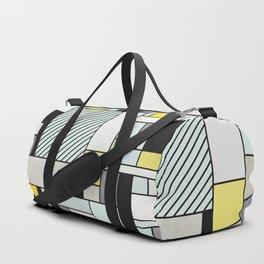 Random Concrete Pattern - Yellow, Blue, Grey Duffle Bag