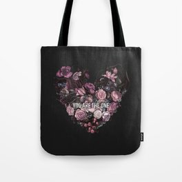 You Are The One // Floral Valentine's Heart Tote Bag