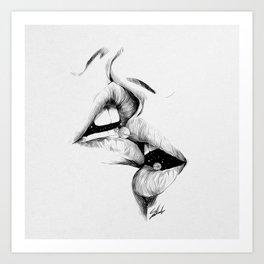 Universe kiss. Art Print
