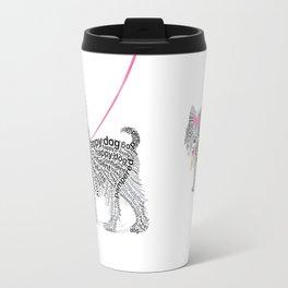 Typographic Yorkshire Terrier - Pink   #YorkshireTerrier #buyart Travel Mug