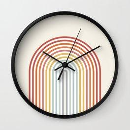 Minimalist colorful rainbow lines  Wall Clock
