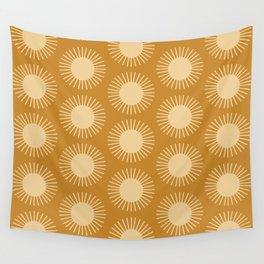 Golden Sun Pattern II Wall Tapestry