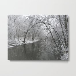 Winter Walk | River Bend Metal Print