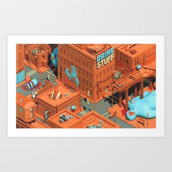 Murdertown - Soda Row Art Print