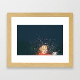 lights, rain, silence. Framed Art Print