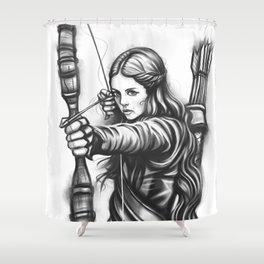 Female Warrior Shower Curtain