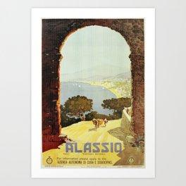 1920s Alassio Italy Art Print