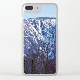 Mountain Crevasses Clear iPhone Case