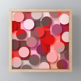 dots & squares red Framed Mini Art Print