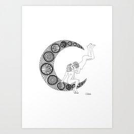 Moon Lesbians Art Print