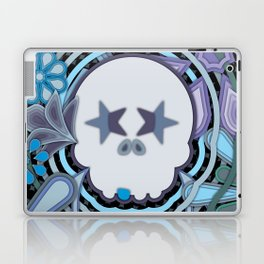 Blue Sugar Skull Laptop & iPad Skin