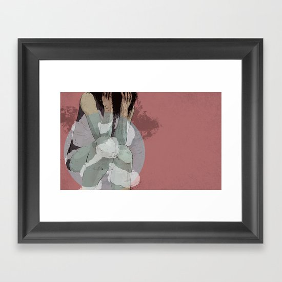 Lady Lost Framed Art Print