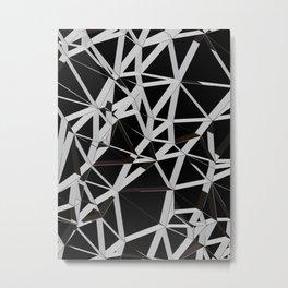 3D Futuristic GEO Lines V Metal Print