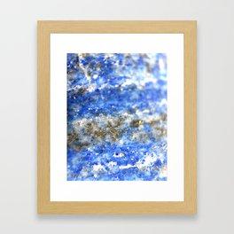 Lapis Lazuli geode Framed Art Print