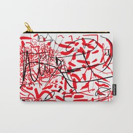 abstract typographic Carry-All Pouch